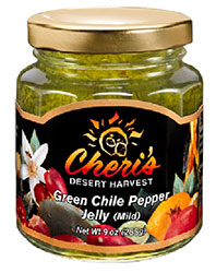 Green Chile Pepper Jelly (Mild)