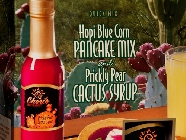 Blue Corn Pancake Mix and Prickly Pear Cactus Syrup