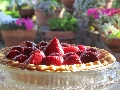 Strawberry-Prickly Pear Cream Cheese Pie